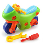 Early Learning Education DIY Screw Nut Plastic 3d Puzzle Vehicle Kid Toys