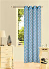 6PC WHOLESALE DEAL PRINTED VOILE SHEER WINDOW GROMMET PANEL CURTAIN 2TONE (S38)