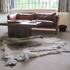 GENUINE REINDEER HIDE RUG THICK LUSH PELT A GRADE HIDE DARK / LIGHT COLOURING