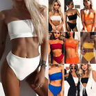 Women's High Waisted Bikini Set Push Up Padded Swimsuit Bathing Suit Swimwear SF