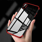 For iPhone X 8 7 6s Plus Shockproof Plating Clear Slim Hybrid Bumper Case New