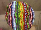 FABRIC PRINTED  STRIPES--LADIES bouffant -SCRUB HAT/ MEDICAL /SURGICAL-HANDMADE