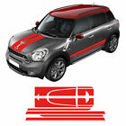 Side Racing Stripes Hood Trunk Kit Decal Sticker for Mini Cooper Countryman R60