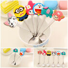 Kids Silicone Cartoon Characters Stainless Spoon Spoons Soup Coffee Dinnerware