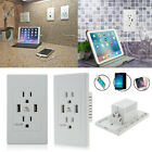 electrical socket usb - Dual USB Wall Socket Outlet Panel Pack Fast Charger 15A Electrical Receptacle US
