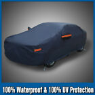 Full Car Cover PEVA Waterproof Snow Rain Dust Resistant All Weather Protection