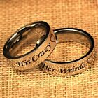 1 PC His Crazy Her Weirdo Promise Couple Ring Gift Jewelry Stainless Steel