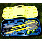 Badminton Net Rack Suit 4pcs Badminton Rackets 2pcs Nylon Badmintons-NEW