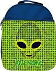 PERSONALISED ALIEN FACE PRINT KIDS SCHOOL INSULATED LUNCHBOX LUNCHBAG GIFT