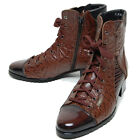 Epicsnob Mens Shoes Leather Formal Lace Up Combat Military Ankle Boots Work