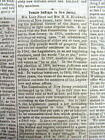 1867 Madison WI newspaper LUCY STONE FIGHTS for WOMENS SUFFRAGE in NEW JERSEY