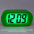 Silicone Cover Digital Mute Alarm Clock LCD Large Screen Bold Numbers Clock APQ2
