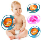 Baby Kids Infant Feeding Dishes Gyro Bowl Universal 360° Rotate Spill-Proof O7