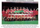 MIDDLESBROUGH F.C TEAM PRINTS 1970's (1970/1971/1972/1973/1974/1975//1977/1978)