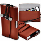 PU Leather Horizontal Belt Holster Case Cover with Earphone For Oukitel Models