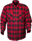 Scorpion Men's COVERT Flannel KEVLAR-Lined Riding Shirt (Red/Black) Choose Size
