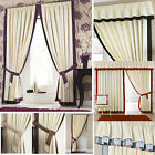 Claremont Pencil Pleat Lined Curtains 10 Different Trims Plus Accessories 50%OFF