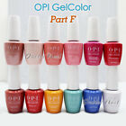 OPI GelColor PART F All New Soak Off Led UV Gel Lacquer Base Top Coat 15ml 0.5oz