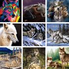 Wolf Fox Animal Paint By Number Kit DIY Acrylic Oil Painting Art Home Wall Decor