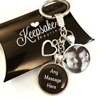 Personalised Photo Keyring - Any Message - Easter Fathers Day Present Gift Box