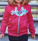 New Girls Thomas Cook Fleecy Horse Hooded Jumper PINK