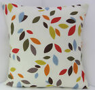 CUSHION COVERS ABSTRACT ORANGE MUSTARD RED GREEN CREAM SCATTER COVERS
