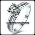 1.00CT Diamond Solid Platinum PT950 Engagement Wedding Ring Solitare White Gold