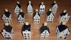 KLM BOLS Blue Delft's Miniature Houses, year at base, all sealed, Delft House