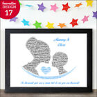 PERSONALISED Mummy Mum and Son Kissing Birthday Mothers Day Christmas Gifts