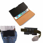1x Universal PU Leather Phone Wallet Carry Waist Belt Pouch Bag For Apple iPhone