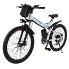 bicycle with battery - ANCHEER 26inch 36V Foldable Electric Power Mountain Bicycle with Head Light US