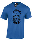 GROOT CARTOON BABY MENS T-SHIRT GUARDIANS STAR LORD OF THE GALAXY FUNNY FAN GIFT