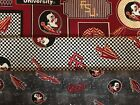FLORIDA STATE SEMINOLES COTTON FABRIC BT Yard  3 New Prints Sykel Enterprises
