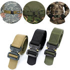 Adult Men Tactical Military Belt Nylon Outdoor Multi functional Training Camping