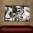 READY TO HANG CANVAS Guernica Pablo Picasso 3 Panels For Living Room Frame