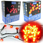 80/160 LED Red Berry Xmas Lights Outdoor Holly Tree Ball Fairy Light String