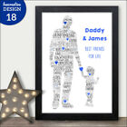 PERSONALISED Daddy Dad and Son Daughter Word Art Print Birthday Christmas Gifts
