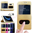 Magnetic PU Leather Flip View Window Stand Case Cover For Huawei Honor 9 Lite
