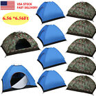 3-4 Person Outdoor Camping Waterproof Folding Hiking Tent Camouflage/Blue LOT OY