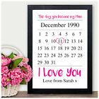 The Day You Became My Mum Keepsake Personalised Mothers Day Gifts Print Mummy