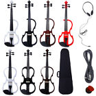 New 4/4 Size 5 Style Electric Silent Violin Set Brown Black White Red