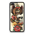 OWL STEAMPUNK ILLUMINATI TATTOO iPhone 4/4S 5/5S/SE 5C 6/6S 7 8 Plus X 10 Case