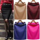 AU STOCK HIGHT RISE SILKY LADIES OFFICE BUSINESS WORK SKIRT MULTI-COLOUR DR048