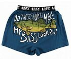 Lazy One Mens Boxer Shorts CHECK OUT MY BASS -- choose size