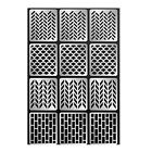 12Pcs Sheets Nail Art Hollow Stencil Template Stickers DIY Manicure Tool Stamp