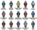 Pro Basketball Western Team Variety Logo Steel Sport Metal Analog Wrist Watches on eBay