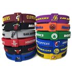 NBA basketball silicone adjustable bracelet wristband -bulls lakers warriors
