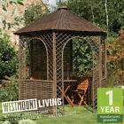 NEW WOOD FLOOR / WILLOW NATURAL GARDEN PATIO RUSTIC GAZEBO PAGODA