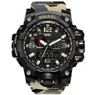 SMAEL Men's Digital Watch LED Shock&Water Proof Sports Analog Quartz Wrist Watch image