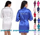 New Women Silk Satin Bathrobe Bridal Wedding Bride Bridesmaid Kimono Gown Robes